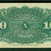 Image of 1863 10 Cents US B