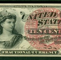 Image of 1863 10 Cents US F