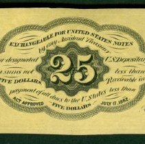 Image of 1862 25 Cents US B