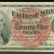 Image of 1863 25 Cents US F
