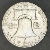 Image of 1958 D Franklin Half Dollar