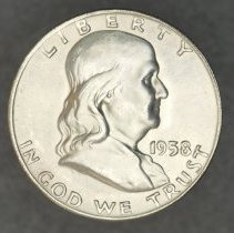 Image of 1958 D  Franklin Half Dollar