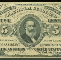 Image of 1863 5 Cent US F