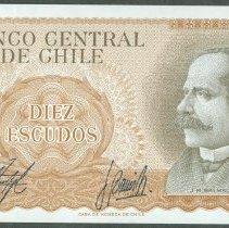 Image of ND 10 Escudos, KM-143 (2012), Chile. - 2002.0002.0060