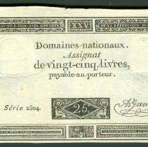 Image of 1793 25 Livres, Banque de France F.