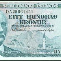 Image of 1961 100 Krónur, KM-44a (2014), Iceland.  - 2015.0100.0316