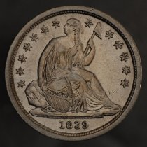 Image of 1839 Seated Liberty Dime, Breen 3222, US. - 1985.0105.0001