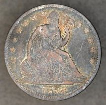 Image of 1859 Liberty Seated, No Motto Half Dollar, Breen 4888, US - 2003.0028.0319