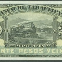 Image of ND (1902) 20 Pesos, Banco de Tamaulipas,Tams-5 KM-S431s (2013), Mexico. - 1978.0361.0178