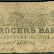 Image of 1848 3 Dollars, Haxby MA-220-S5, Massachusetts, US. - 1976.0002.0079