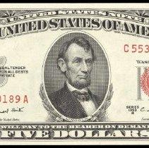 Image of FR-1534  $5 LTN 1953-B  MS-65                                                                                                                                                                                                                                  - 1987.0126.0524
