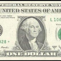 Image of FR-1910-L*  $1 FRN 1977-A  MS-64                                                                                                                                                                                                                               - 1987.0126.0706