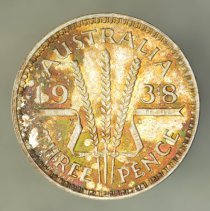 Image of 1938(m) Threepence, George VI
