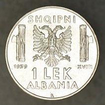 Image of 1939R 1 Lek, Vittorio Emanuele III