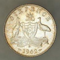 Image of 1942S Sixpence, George VI