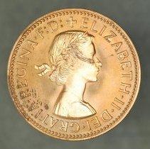 Image of 1961(p) 1/2 Penny Proof, Elizabeth II
