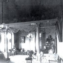 Image of House interior Parlor  Cornice and Latice