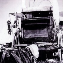 Image of Chuck Wagon with the horses collars  - 2015FIC760