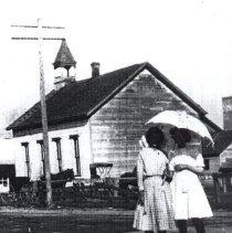 Image of Cumberland Presbyterian Chursh.  First church in Woodburn - 2015FIC1007