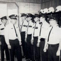 Image of Police Reserves being reviewed by Lieutenent Jim Enyart and Sgt. Bob Smith - 2015FIC1353