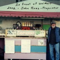 Image of Espresso stand in front of Wal-Mart  John Ross Propietor in 2002 - 2015FIC1359