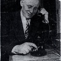 Image of First dial phone call made by acting Mayor Jess Fiken - 2015FIC1533