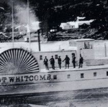 Image of First Steamship built in Oregon the Lot Whitcome.  Picture thank to the Oregon Historical Society - 2015FIC1543