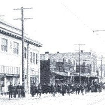 Image of Front Street abt. 1913 from Oregon State Library Collection - 2015FIC1588