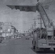 Image of Front Street abt 1960 getting ready for N Marion County Fair - 2015FIC1591