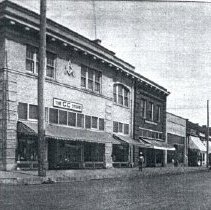 Image of Front Street looking north before the trolley in 1911 with old hotel on east side of the tracks - 2015FIC1598