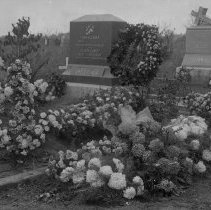 Image of Casey and Miller gravesites with flowers St. Luke's Cemetary Hall-GS-7 - 2015FIC1670