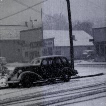 Image of Garfield Street abt. 1940 in a snow storm - 2015FIC1735