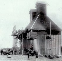 Image of Hop Dryer and Warehouse showing empty hop baskets 1905 - 2016FIC2199
