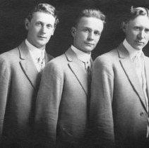 Image of Three young men Hall,J.J.-B-3c-12 - 2016FIC2426