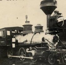 Image of Oregonian Railroad steam engine shortly before it was destroyed - 2016FIC2584