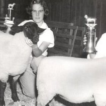 Image of Mosher, Nora and Mickye Bressler, sheep show champs 1957,1958 - 2016FIC2937