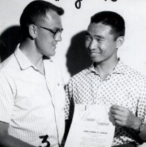 Image of Tadashi Nagai foreign exchange with Lyle Henderson 1961