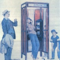Image of Telephone  booth cartoon by Louis Bee - 2016FIC3896