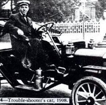 Image of Telephone trouble shooter's car 1908 - 2016FIC3917