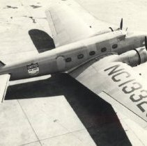 Image of United Airlines mail plane at Airport abt. 1942 - 2016FIC4076