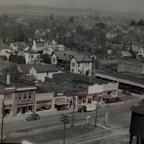 Image of View abt. 1940 showing Lincoln School, Woodburn Hotel, Nathman's - 2016FIC4283