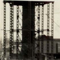 Image of Water towers for the railroad and the city and the old pylons  - 2016FIC4342
