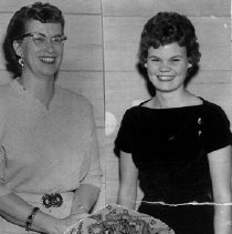 Image of Magnuson, Mrs. Carl and Charlotte Seeley, FHA Table setting 1957  - 2016FIC4486