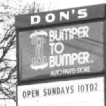Image of Don's Bumper to Bumper Auto Parts 377  N Pacific Highway in 1979 - 2016FIC4634