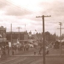 Image of Front Street and the Rail Yards
