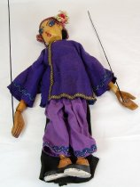 Image of 10098-31 - Puppet; Wood; Lady; Fing Loo from The Gooseberry Mandarin; Vivian Michael
