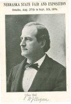 Image of 10209-24 - Print, Photographic; William Jennings Bryan; Nebraska State Fair