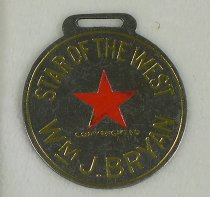 "Image of 10506-94 - Fob; William Jennings Bryan; ""Star of the West"""