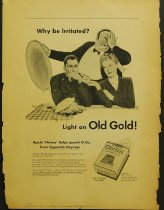 Image of 10645-1170 - Proof, Printing; John Falter; Offset Lithograph; Why be Irritated? Light an Old Gold!