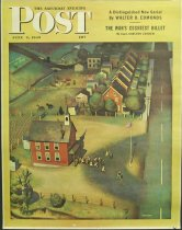 Image of 10645-142 - Poster; John Falter; Offset Lithograph; School's Out; Saturday Evening Post; June 9, 1945